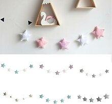 Étoile nordique, ornements de ficelle de lune,