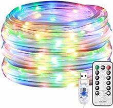 Euch 1 tube lumineux de 12 m, 100 LED en 8 modes,