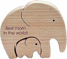 Eudy Jouet en bois éléphant décoration de