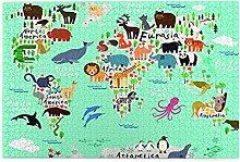 EURmermaid Jigsaw Puzzles 1000 pièces,Carte du