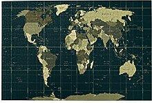 EURmermaid Puzzles 1000 pièces,Carte du Monde