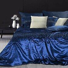Eurofirany Couvre-lit en Plastique Bleu 170 x 210