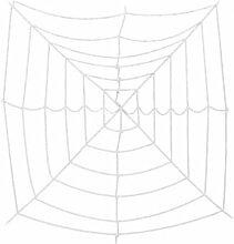 EUROPALMS Halloween Spiderweb, 180x180cm -