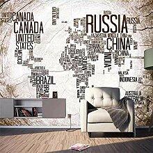 Européenne rétro en bois carte du monde bar