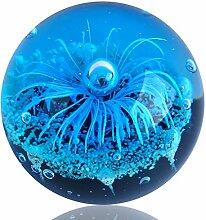 EUSTUMA Figurine de sphère de Fleur Bleue en