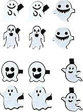 Evazory 12 pcs Halloween Fantôme Pinces À