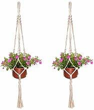 Evazory 2 pièces corde de coton pot de fleur