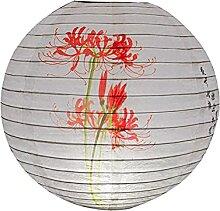 Evazory 30 cm rond papier lanterne abat-jour style