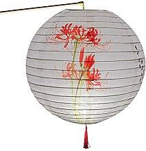Evazory 30cm rond papier lanterne abat-jour style