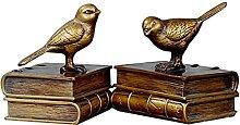 Evazory Art Serre-Livres, Résine, Oiseau,
