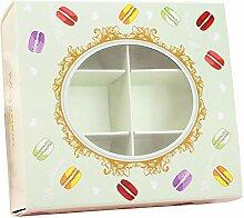 Evazory Boîte de macarons de 20 pièces avec