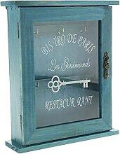 Evazory Boîte de rangement pour clés en bois de