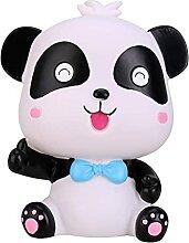 Evazory Cartoon Panda Forme Tirelire Tirelire