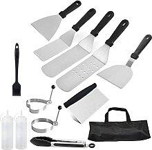 Evazory Ensemble de spatules pour gril en acier