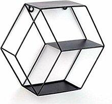 Evazory fer étagère murale hexagonale étagères