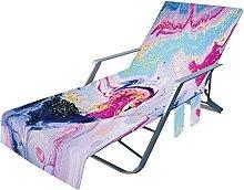 Evazory Housse de chaise de plage avec poches
