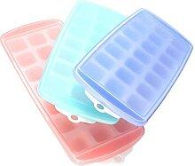 Evazory Ice Cube Bac à glaçons en silicone avec