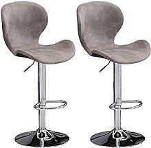 Evazory lot de 2 tabourets de bar en métal Chaise