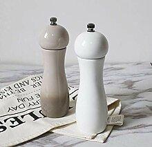 Evazory moulin à sel et à poivre en céramique,