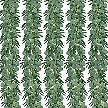 Evazory Pack de 5 Eucalyptus artificiel de 6,5