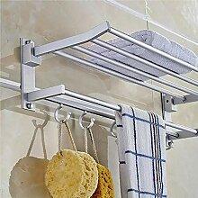 Evazory Porte-serviettes Alumimum Pliant Argent