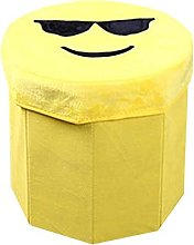 Evazory pouf siège coffre avec espace de