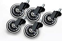 Evazory Roulettes pivotantes 5pcs Roulettes de