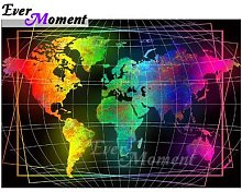 Ever Moment – peinture diamant carte du monde,