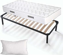 Evergreenweb – Kit sommier et Matelas Simple