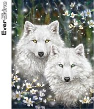 Evershine – peinture diamant thème loup,