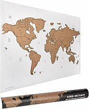 ewtshop® Carte du monde à gratter 60 x 40 cm