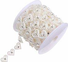 EXCEART 1 Rouleau 10 Mètres Perle Perlé Ruban