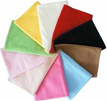 EXCEART 10 Pcs Molleton Tissu Couture Tissu Solide