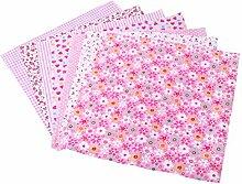 EXCEART 12 Pcs Floral Coton Tissu Bundle Carrés