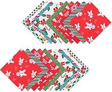 EXCEART 60 Feuilles De Noël Tissu Craft Tissu DIY
