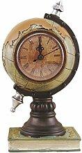 EXCEART Horloge de Bureau Vintage Globe Design