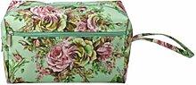 EXCEART Sac à Tricoter Floral Imprimé Portable