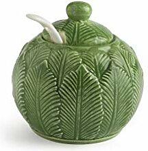 Excelsa Foliage Sucrier avec cuillère en
