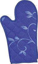 Excelsa Gant de Four, matelassé, Tissu Bleu