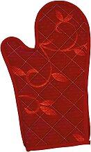 Excelsa Gant de Four, matelassé, Tissu Rouge