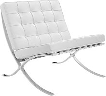 Expo Fauteuil Blanc Design - Cuir Premium