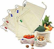 EzLife Sacs Réutilisables à Fruits et Légumes,