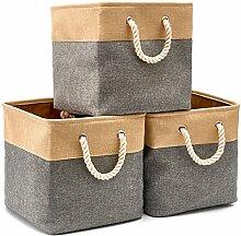 EZOWare Boîte de Rangement Pliable en Coton de