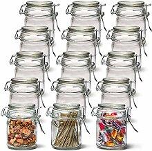 EZOWare Pot à Épices en Verre avec Couvercle