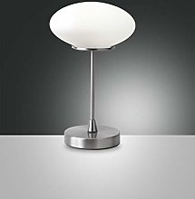 Fabas Luce Lampe de table LED Nickel SAT.