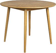 Fabio - Table à manger ronde en bois ø100cm