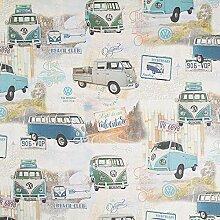 Fabulous Fabrics Panama VW Original Vintage Bus