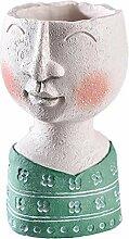 Face Design Pot De Fleurs En Résine Créative