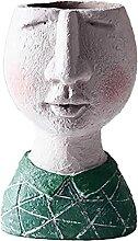 Face Design Pot De Fleurs Pot Créatif Résine