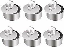 Facibom Lot de 6 cercles à gâteau en acier -